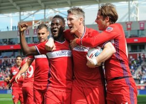 Chicago Fire is celebrating a goal