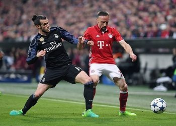 Ribery against Bale