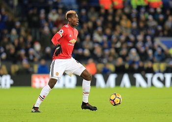 Paul Pogba with the ball