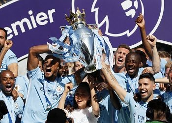 Manchester City is celebrating