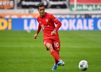 Coutinho with the ball.